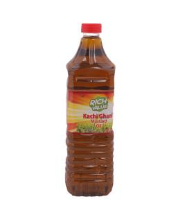 Rich Value Kachi Ghani Mustard Oil 1 Ltr Bottle