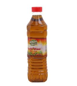 Rich Value Kachi Ghani Mustard Oil 500ml Bottle